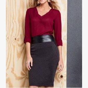ALLOY Dresses & Skirts - Leather-trim Knit Pencil Skirt