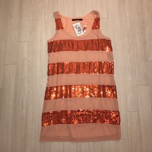Dresses & Skirts - Orange, Sequin Dress