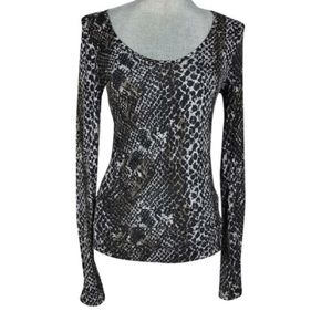 Three Dots Tops - {Three Dots} Snake Print Scoop Neck Shirt Top