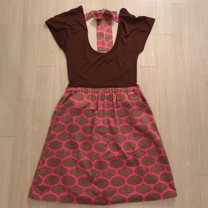 Judith March Dresses & Skirts - Printed Pink & Brown Dress