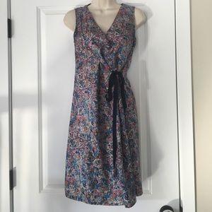 MARC JACOBS floral watercolor wrap dress