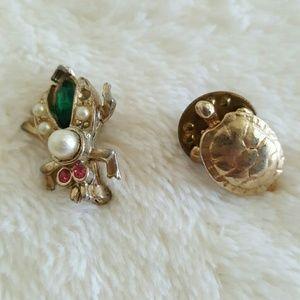 Turtle/bug pins
