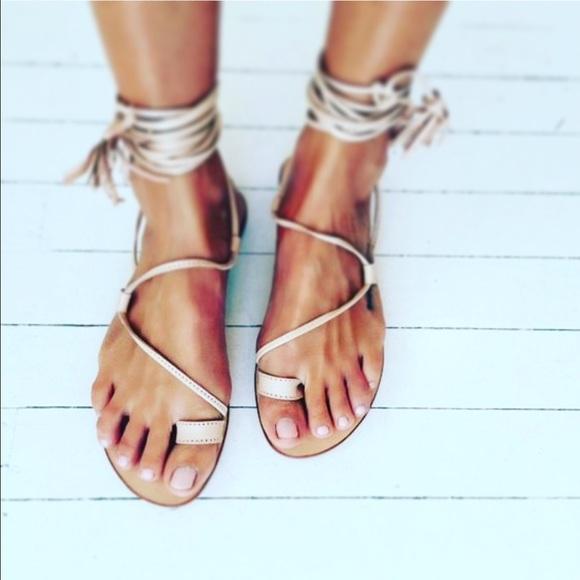 c0a31482a1d Leg Wrap Roman Gladiator Lace Up Sandals