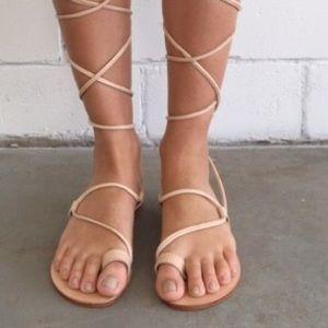 6d67516c636 Boutique Shoes - Leg Wrap Roman Gladiator Lace Up Sandals