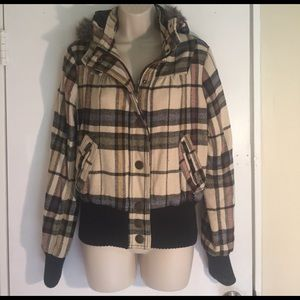 Jack by BB Dakota Jackets & Blazers - cropped checkered jacket size Medium