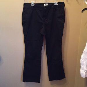 Black twill pants