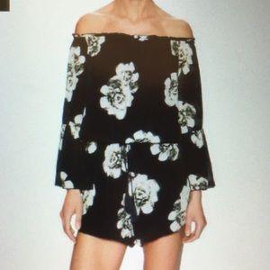 Winston White Dresses & Skirts - Black and White OTS floral romper