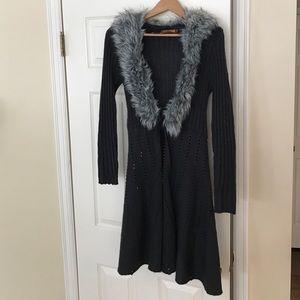 Belldini Sweaters - Beautiful long sweater with soft fur!