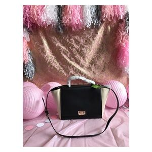 New kate spade, chic black and ivory bag!