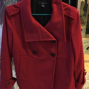 GAP Jackets & Blazers - Red Peacoat