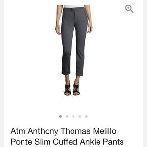 ATM Anthony Thomas Melillo Pants - ATM ponte slim  cuffed ankle pants