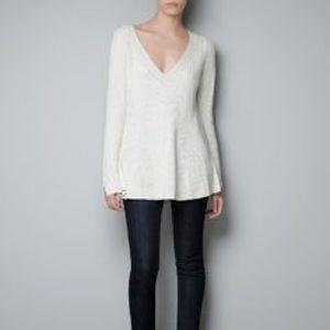 zara Sweaters - Zara Alpaca Wool Peplum Cardigan