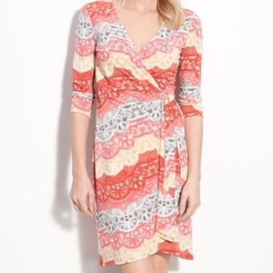 BCBGMaxAzria Dresses & Skirts - BCBGMaxazria Curry Red Wrap Dress