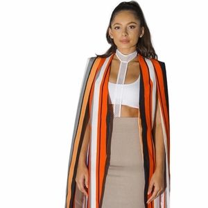 Lavish Alice Jackets & Blazers - Multi color striped cape blazer