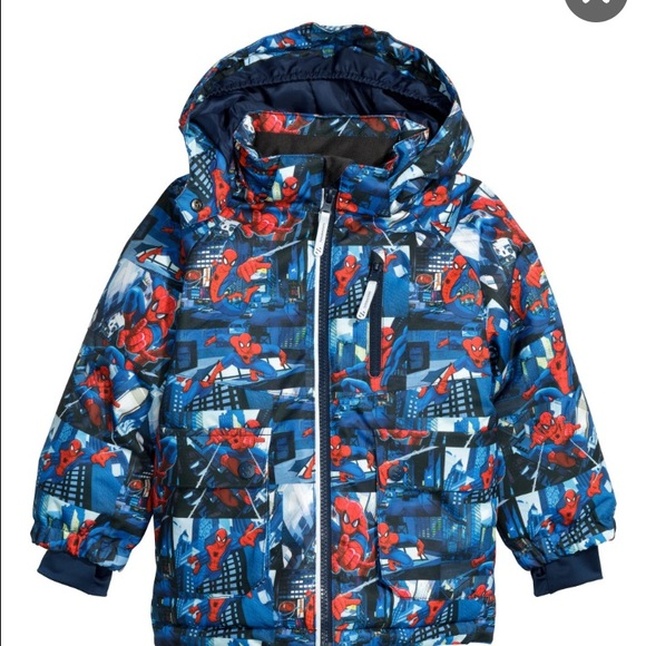 SPIDERMAN Hooded Padded Jacket NWT