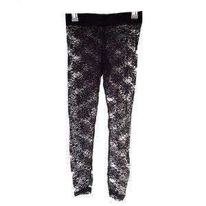 Pants - Black Lace see-through Leggings 💣