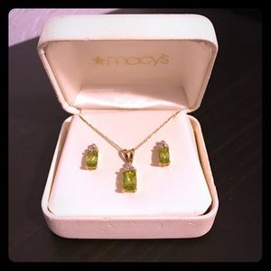 Macy's Jewelry - 💕14K Cushion Peridot Jewelry Set