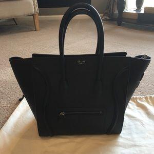 Celine Handbags - Celine Authentic Mini Luggage. Pebbled Black