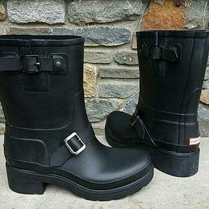 Hunter Boots Shoes - Hunter original rubber biker boot