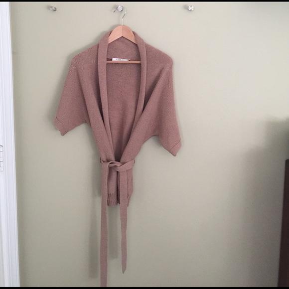 91% off Trina Turk Sweaters - Trina Turk short sleeve belted ...
