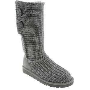 UGG Shoes - UGG Cardy boots, grey two buttons, size 6