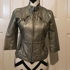 ✨REDUCED✨ Forever 21 S Gunmetal Motorcycle Jacket