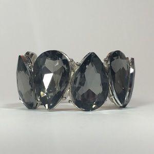 🛩Bentley Bracelet - Silver with Grey Crystals
