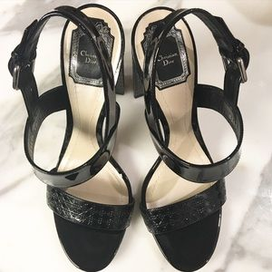 100% Authentic Christian Dior Black Sandals