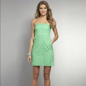 New York & Co Green Strapless Dress