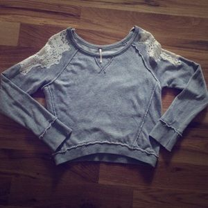 Free People sweatshirt with lace