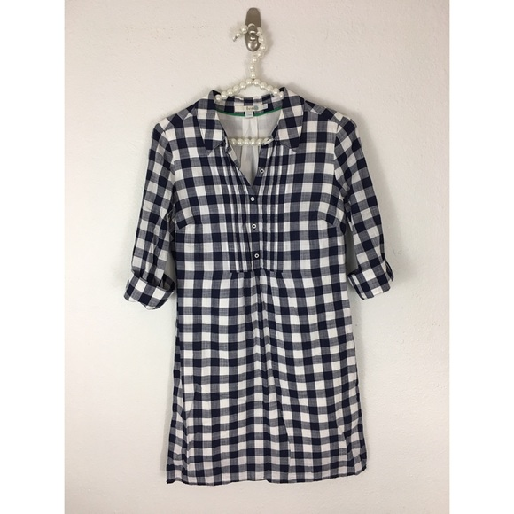 11b8b840ffb Boden Dresses   Skirts - Boden Navy Check Shirt Dress ...