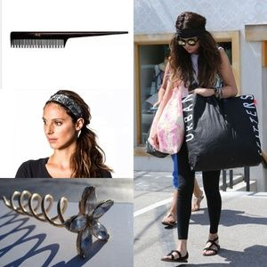 Accessories - 4-piece: comb, spiral screw 2x yoga headband.