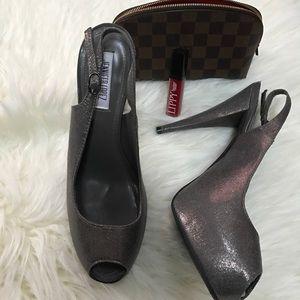 Dark Silver Heels / Pumps