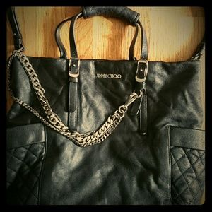 Jimmy Choo Handbags - Jimmy choo leather  biker handbag