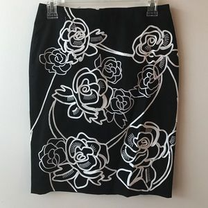 NWT White House Black Market Rose Pencil Skirt