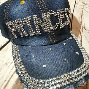 Crystal princess denim cap