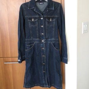 Mavi Jackets & Blazers - Mavi Long dark denim jean duster