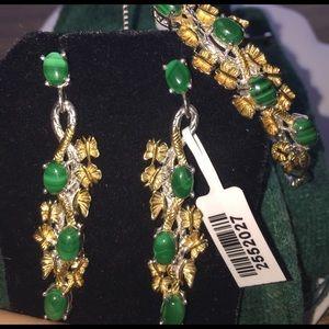 African Malachite  Jewelry - Combo Set💚✨💚 Rare African Malachite Butterfly 💚