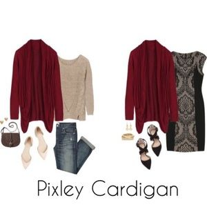 Pixley Burgundy Open Cardigan for Stitch Fix