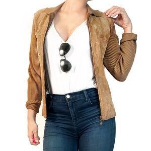 Vintage Jackets & Blazers - Vintage suede and knit jacket