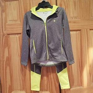 Girls sports hoodie and pants