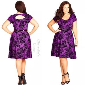City Chic Dresses & Skirts - City Chic Romantic Fit & Flare Dress Plus Size