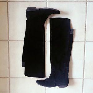 Nine West Shoes - Nine West black suede over the knee boots, size 7