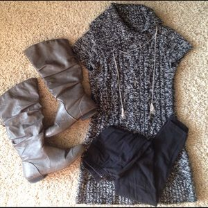 Sweater Dress & Leggings Bundle