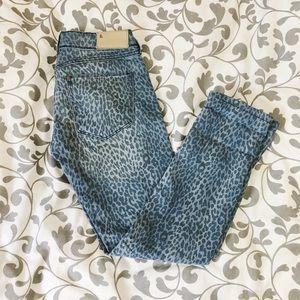 Denim - Leopard Super Skinny Jeans 26