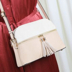 Carolyn Cream & Nude Medium Crossbody