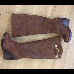 Michael Kors Shoes - Michael Kors size 7 wedge brown boots
