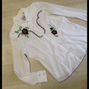 Roper Tops - Roper embroidered western shirt