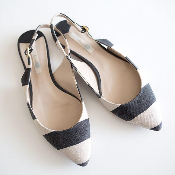 898b82faee7f Boden Shoes - Striped Boden Slingback Flats