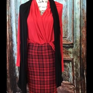 April Spirit Dresses & Skirts - SALE‼️Checkered red/black skirt. FINAL PRICE